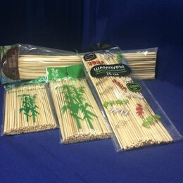 Шампуры - Бамбуковые шампуры набор четыре размера, 0