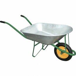 Тележки и тачки - Тачка садовая метал.зеленая 160кг/78л, 0