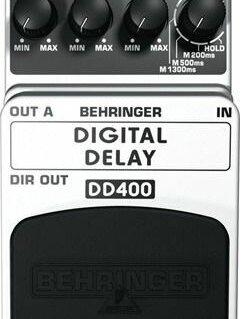 Процессоры и педали эффектов - гитарный дилей Behringer DD400 DIGITAL DELAY, 0