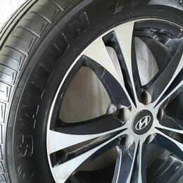 Шины, диски и комплектующие - Диски литые б/у с летней новой резиной размер 225/60/17 на авто хендай айх-35, 0