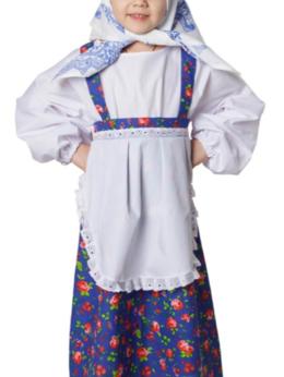 Карнавальные и театральные костюмы - Костюм русский народный для девочки Бабка ВК-91039, 0
