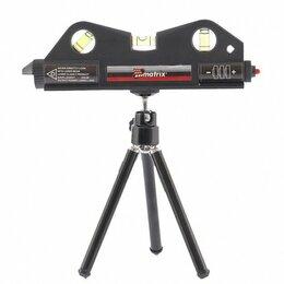 Измерительные инструменты и приборы - Уровень лазерный, 170 мм, 150 мм штатив, 3 глазка Matrix, 0