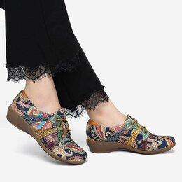 Туфли - Элегантные туфли в ретро стиле на шнуровке, 0