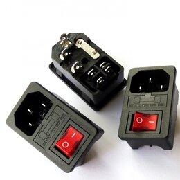 Блоки питания - Гнездо питания с выключателем и предохранителем АС-003 IEC 320 C14 IPZ-104, 0