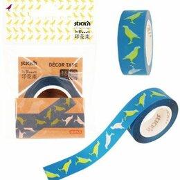 Строительный скотч - Клейкая лента декоративная Hopax bloom 10м птицы, 0