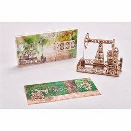 Настольные игры - Механический 3D-пазл из дерева Wood Trick Нефтяная Вышка, 0