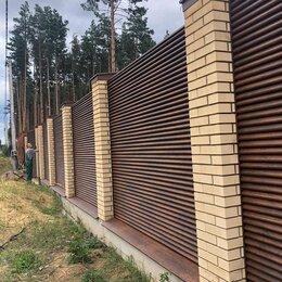 Заборы и ворота - Забор жалюзи RAL8017, 0