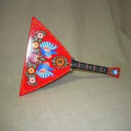 Щипковые инструменты - Мастерская Сереброва (к2-бл-01) Балалайка с бубенцами детская, 0