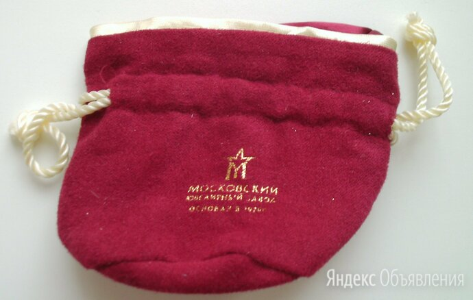 Подарочный мешочек для украшений красный Московский ювелирный завод по цене 100₽ - Подарочная упаковка, фото 0