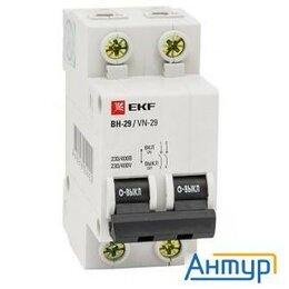 Концевые, позиционные и шарнирные выключатели - Ekf Sl29-2-16-bas Выключатель нагрузки 2p 16А ВН-29 Ekf Basic, 0