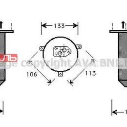 Отопление и кондиционирование  - AVA BWD220 Осушитель кондиционера BMW 7-serie E38 728i/iL/730i/iL/735i/iL/740..., 0