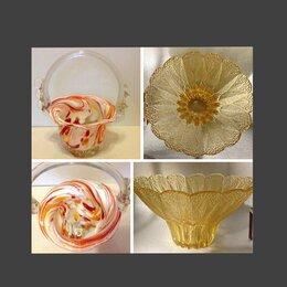 Блюда, салатники и соусники - СССР Цветное стекло салатник конфетница, 0