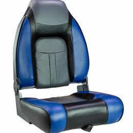 Походная мебель - Кресло мягкое складное, обивка винил, цвет синий/угольный/черный, Marine Rocket, 0