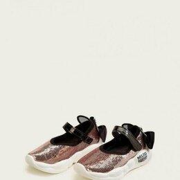 Кроссовки и кеды - Новые кроссы в паетках и с бантиком, 0