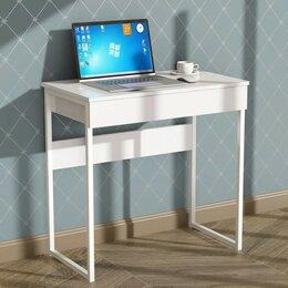 Кровати - Стол письменный Кадет 800х420х736 белый/белый глянец, 0