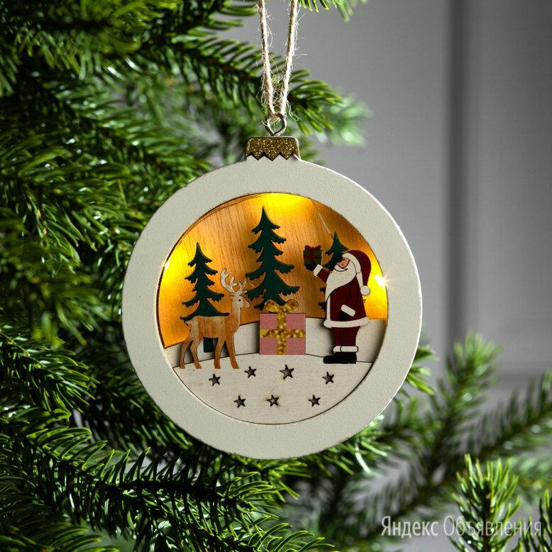 Световая подвеска LUAZON Шар с Дедом Морозом по цене 239₽ - Интерьерная подсветка, фото 0