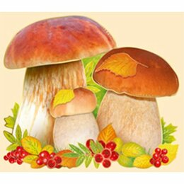"""Интерьерные наклейки - Украшение """"Империя поздравлений"""" 065 Белые грибы, пантон бронза, 0"""