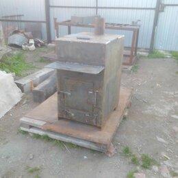 Камины и печи - Печь в баню 800\600\500\6 мм, с баком для воды на 90 л, 0