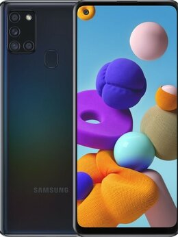 Мобильные телефоны - Samsung Galaxy A21s 4/64GB Черный (Ростест), 0