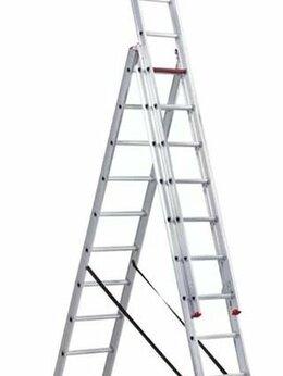 Лестницы и стремянки - Лестница алюминиевая 3-х секционная 3х10 (6,80м), 0