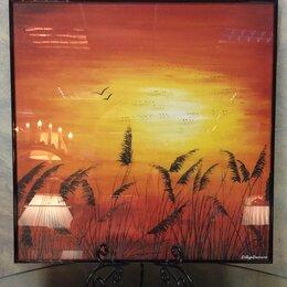 Картины, постеры, гобелены, панно - Картина «Закат» с кристаллами SWAROVSKI, 0