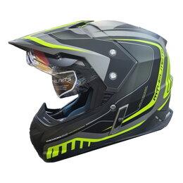 Спортивная защита - Шлем MT SYNCHRONY TOURER matt titanum fluor yellow, 0