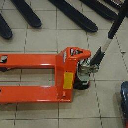 Грузоподъемное оборудование - Гидравлическая тележка (Рохля) с короткими вилами 2,5 тонны, 0