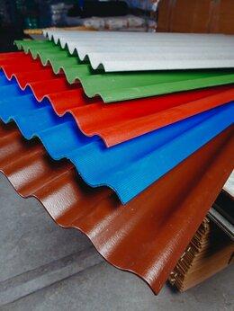 Фасадные панели - Шифер 8-ми  волновой: серый - цветной., 0