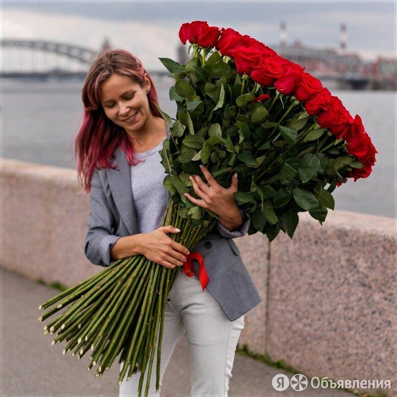 Высокие розы от 100 см доставка №390 по цене 330₽ - Цветы, букеты, композиции, фото 0