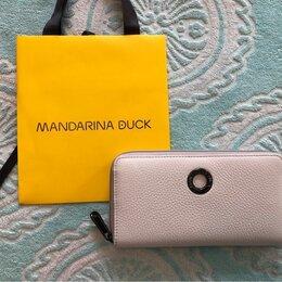 Кошельки - Mandarina Duck Италия белый кожаный кошелек Новый, 0