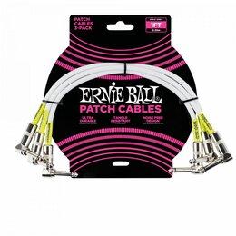 Наборы инструментов и оснастки - Ernie Ball 6055 набор кабелей инструментальных 3 шт, длина 30 см, цвет белый., 0