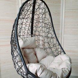 Подвесные кресла - Подвесное кресло EASY черное на стойке с подушкой, 0