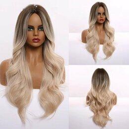 Аксессуары для волос - Парик волнистый длинный Блонд Омбре, 0