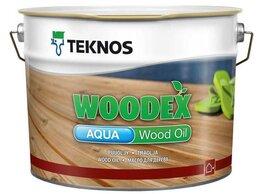 Масла и воск - Масло Teknos Woodex Aqua Wood Oil Вудекс 9 л. -…, 0