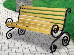 Скамейки - Скамейка садовая (парковая) кованая СкФЛм и СкФЛб, 0