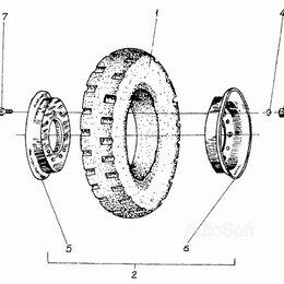 Для железнодорожного транспорта - Колесо 5.00-8 ДВ-1621 (гуссматик), 0