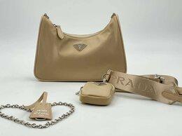 Сумки - Женская сумка Prada Re Edition 2005 бежевая…, 0