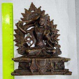 Статуэтки и фигурки -  Манджушри. Бронза.Старинная. 20 см.Буддийское…, 0