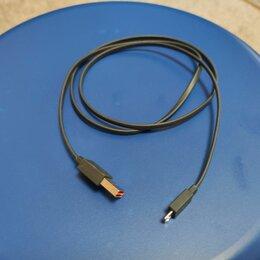 Компьютерные кабели, разъемы, переходники - Кабель microUSB реверсивный 2сторонний, 0