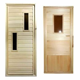 Двери - Посад Дверь банная с остеклением сорт А 1800*700, 0