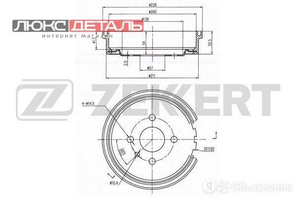 ZEKKERT BS5056 Барабан торм. зад. Opel Astra F 91-  Kadett E 79-  по цене 997₽ - Тормозная система , фото 0