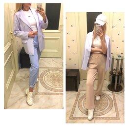 Жакеты - Стильный жакет новый , брюки трендовые новые , топ новый , 0