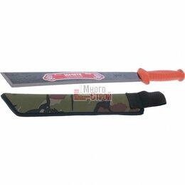 Ножи и мультитулы - Мачете туристическое 490 мм, пластиковая рукоятка, жесткий чехол (АРТИ)// Россия, 0