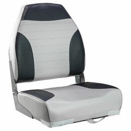 Походная мебель - Кресло мягкое складное Classic, обивка винил, цвет серый/уголный, Marine Rocket, 0