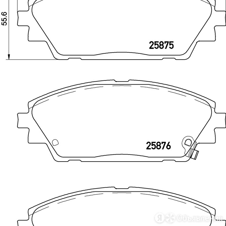 Колодки тормозные дисковые перед (pf-5615) Nisshinbo NP5034 по цене 2989₽ - Тормозная система , фото 0