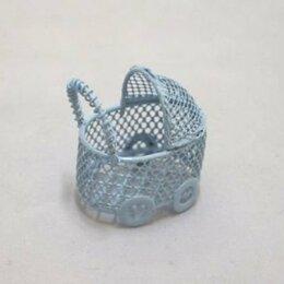 Рукоделие, поделки и сопутствующие товары - 22499 Колясочка мини Y-435/3 ажурная(4х3х5) металл. гол. -, 0