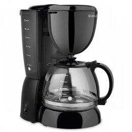 Кофеварки и кофемашины - Кофеварка капельная Scarlett SC-CM33007, 750Вт, 1,25л, черная, 0