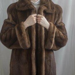 Шубы - Шуба женская норковая, размер 50-52, цвет светло-коричневый, 0