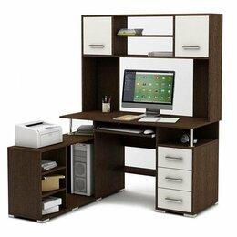 Компьютерные и письменные столы - Компьютерный стол Амбер-23 (Венге-Белый), 0