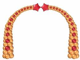Воздушные шары - Арка из воздушных шаров со звездами, 0